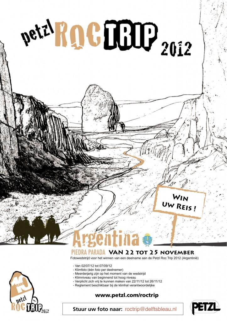 Poster van de Petzl roctrip fotowedstrijd
